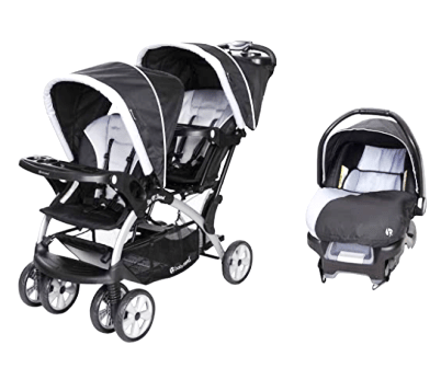 Baby Trend Sit N Stand pram with Toddler Infant Car Seat